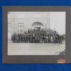 FOTOGRAFIE VECHE PE CARTON , ASTRA ROMANA , ATELIER FOTO OLTEANU, CAMPINA , 1928