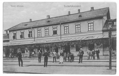 4331 - LUNCA MURESULUI, Alba, Railway Station - old postcard - used - 1909 foto