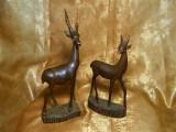 Cumpara ieftin Statuete africane, antilope, lemn exotic, colectie, cadou, vintage