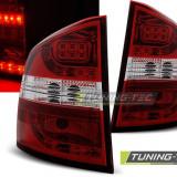 Triple SKODA OCTAVIA II Combi 03.04- RED WHITE LED