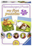 Puzzle My First Puzzles Adorable Animals (9X2 Pcs), Ravensburger