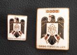 Set insigne BNR - Banca nationala a Romaniei - 4 cm + 2.5 cm