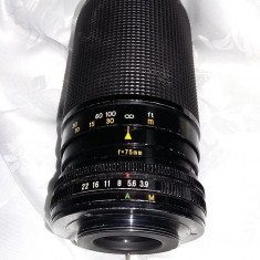Obiectiv Auto Optomax  F 75-150 mm,58 ,1:3.9,Lens,Made in JAPAN,Transp.GRATUIT