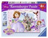 Puzzle Disney Sofia The First: Sofia S Royal Adventure (2 X 24 Pcs), Ravensburger