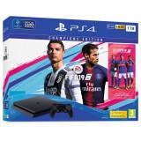 Consola Sony Playstation 4 SLIM, 1 TB Champions Edition, Negru plus Joc FIFA 19 Champions Edition si voucher 14 days PS PLUS