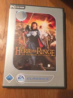Joc computer PC CD-ROM, Der Herr der Ringe, Die Ruckkehr des Konigs, In germana foto