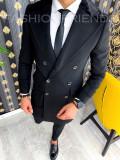 Palton de iarna - pentru barbati - NEGRU - PREMIUM A2929