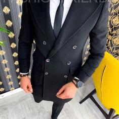 Palton de iarna - pentru barbati - NEGRU - PREMIUM A2929, Din imagine