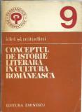 AMS - CORNEA PAUL - CONCEPTUL DE IST. LITERARA IN CULTURA ROM. (CU AUTOGRAF)