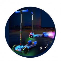 Trotineta copii Scooter Rocket cu lumini ,muzica si efect aburi