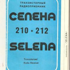 Cartea tehnica RADIO Selena 210-212