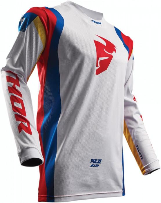 Tricou motocross Thor Pulse Air S7S Size M alb/albastru/rosu Cod Produs: MX_NEW 29104274PE