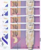 Bancnota Macedonia 10 Denari 2018 - PNew UNC ( polimer - 5 bancnote consecutive)