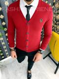 Bluza fashion barbati grena - COLECTIE NOUA 9895 F4-3, L, M, S, XL, La baza gatului, Bumbac