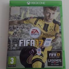 Joc original Microsoft Xbox One FIFA 17 fotbal impecabil ca nou in carcasa, Simulatoare, Multiplayer, Toate varstele