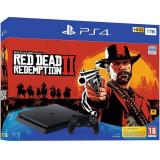 Consola Sony Playstation 4 SLIM, 1 TB, Negru + Red Dead Redemption 2