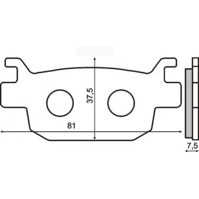 Placute frana sinter Honda Jazz 250 spate Cod Produs: MX_NEW 225102563RM foto
