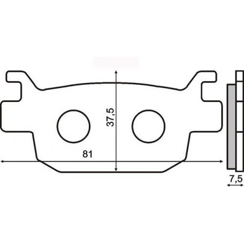 Placute frana sinter Honda Jazz 250 spate Cod Produs: MX_NEW 225102563RM