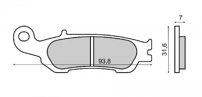 Placute frana (Sinter) Yamaha YZ 250 F 2007-2011 Cod Produs: MX_NEW 225102843RM