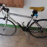 Bicicleta cursiera Decathlon cadru aluminiu cauciucuri michelin, 10, 8