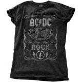 Tricou Femei AC/DC - Cannon Swig Vintage Snow Wash, M
