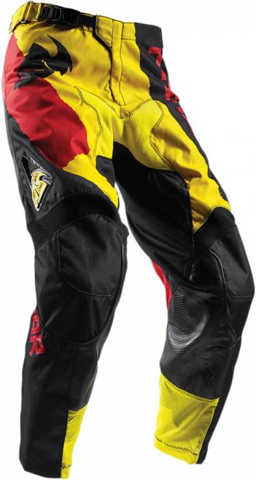 Pantaloni motocross Thor Pulse Taper S7S, galben/rosu, 36 Cod Produs: MX_NEW 29016329PE