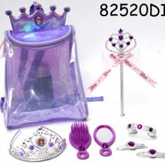 Rucsac cu accesorii pentru par (8 piese) - Printesa Sofia