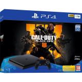 Consola Sony Playstation 4 SLIM, 1 TB, Negru + Call of Duty Black Ops 4