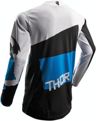Tricou motocross Thor Pulse Taper S7S marime L alb/albastru Cod Produs: MX_NEW 29104245PE foto