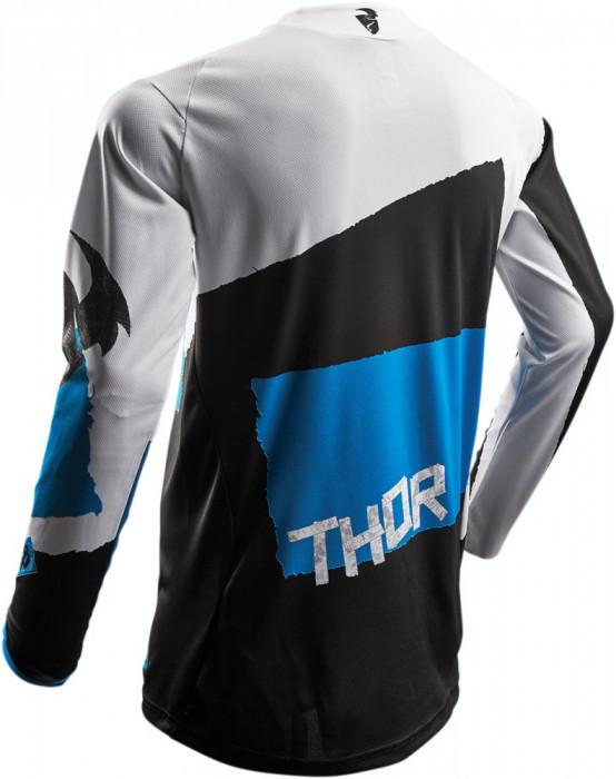 Tricou motocross Thor Pulse Taper S7S marime L alb/albastru Cod Produs: MX_NEW 29104245PE