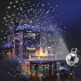 Proiector LED 4W, joc luminos fulgi de zapada, timer, IP44 exterior si interior