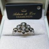 Inel din aur alb 18k cu diamante 0,12ct