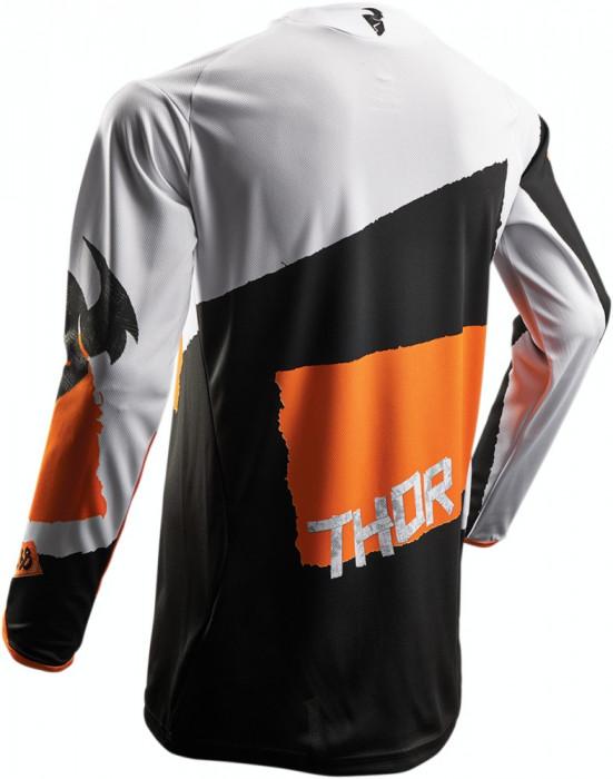 Tricou motocross Thor Pulse Taper S7S marime L alb/portocaliu Cod Produs: MX_NEW 29104251PE