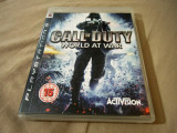 Joc Call of Duty World at War, PS3, original, alte sute de jocuri!, Shooting, 18+, Single player, Activision