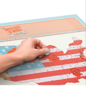 Harta SUA razuibila Am fost acolo - cadou inedit - pt pasionatii de calatorie
