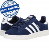 Pantofi sport Adidas Originals Campus pentru barbati - adidasi originali - piele, 41 1/3, 42 2/3, 43 1/3, 44, Albastru, Piele intoarsa