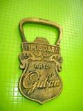 9382- Arta Guban Timisoara 1930-Desfacator Art Deco bronz.