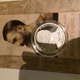 Moneda argint - aniversare 175 ani de la nasterea Regelui Carol I
