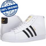 Pantofi sport Adidas Originals Pro Model pentru barbati - ghete originale, 44, 44 2/3, 45 1/3, 46, Alb, Piele naturala