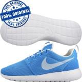 Pantofi sport Nike Roshe One pentru barbati - adidasi originali, 44.5, Albastru, Textil