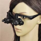 Ochelari cu lupa dubla + Lumina LED. 4 LUPE ceasornicar, bijutier 10X 20X