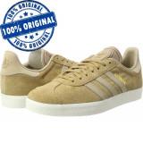 Pantofi sport Adidas Originals Gazelle pentru barbati - adidasi originali piele, 44 2/3, Maro, Piele intoarsa
