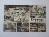 Carte postala colaj Pitesti,circulata 1965, Printata