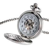 Ceas de buzunar  Bărbați Femei SkeletonCeas Pendant Unisex cu lanț