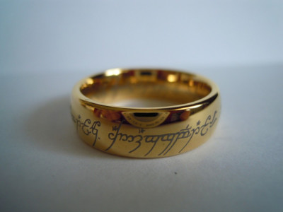 Inel Lord of the Rings The one Ring din Tungsten foto