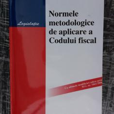 Normele Metodologice De Aplicare A Codului Fiscal Hamangiu