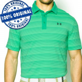 Tricou Under Armour Coldblack Stripe Polo pentru barbati - tricou original, M, Maneca scurta, Verde