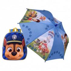 Ghiozdan pentru copii Chase, Patrula Catelusilor , 32 cm + umbrela 56 cm