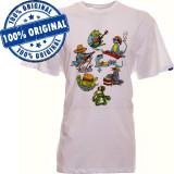 Tricou Vans Reptilian pentru barbati - tricou original - bumbac, L, S, XS, Maneca scurta, Alb