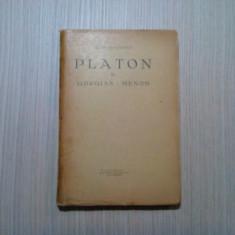 PLATON  vol. III  GEORGIAS * MENON  -  Cezar Papacostea - 1935, 196 p.